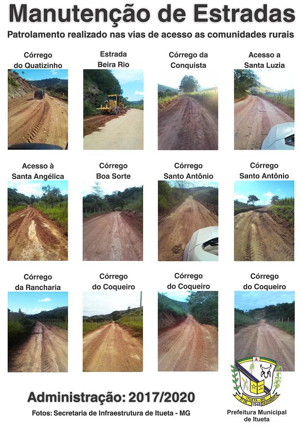 Prefeitura realiza manutenção em estradas do município