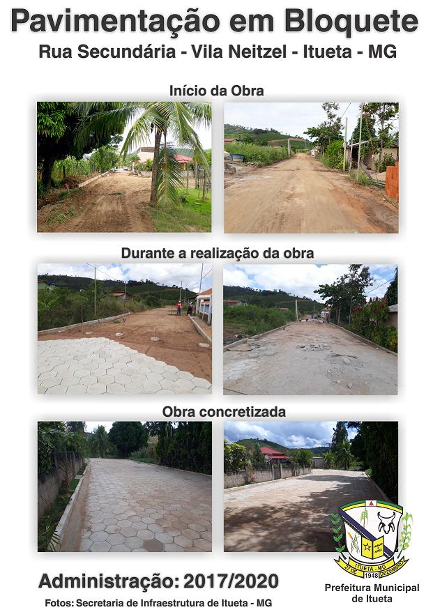 Distrito de Vila Neitzel e Comunidade Santa Angélica recebem pavimentação
