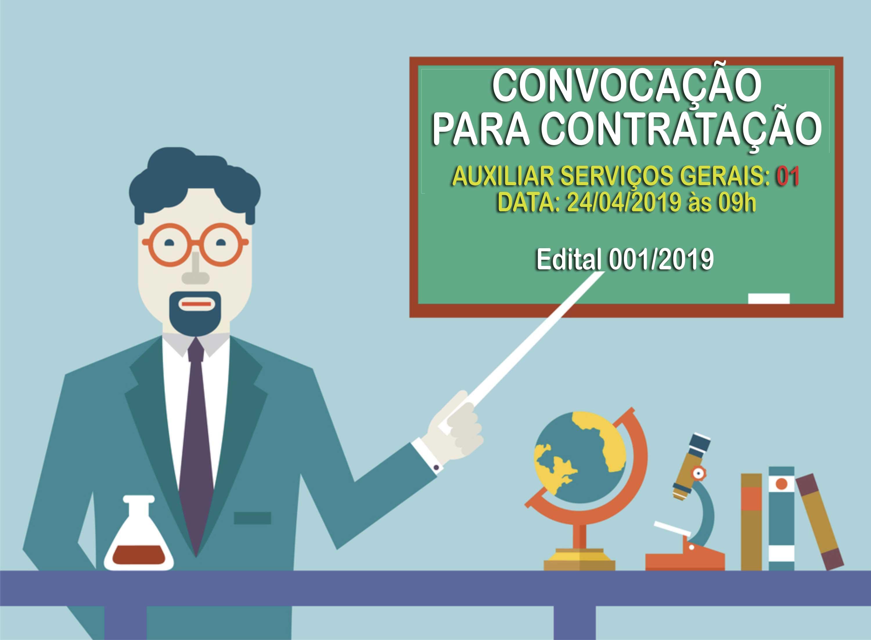 Convocação para Contratação - Auxiliar de Serviços Gerais